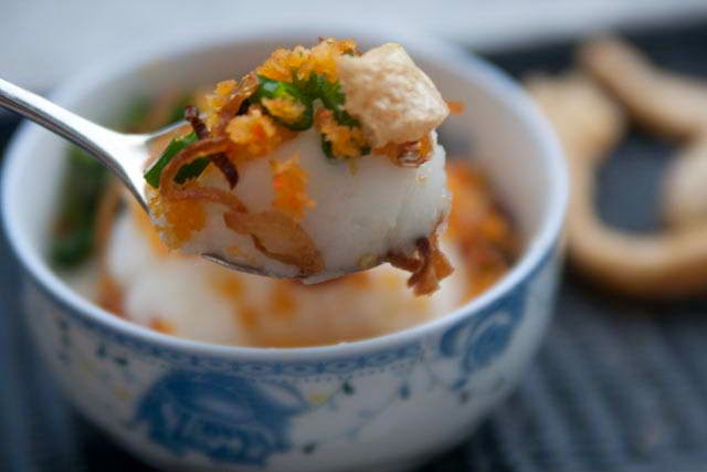Banh Duc with Coconut Milk and Grinded Pork