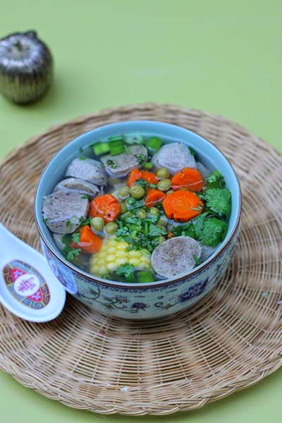 Beef Balls Soup with Vegetables Recipe
