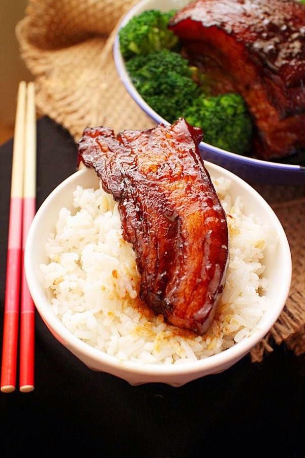Braised Pork Belly with Sugar-cane
