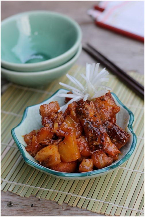 Braised Snakehead Fish with Pineapple Recipe