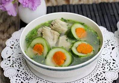 Cucumber Soup with Pork Chop Recipe
