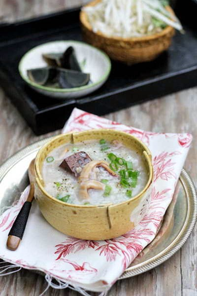 Dried Squid Porridge