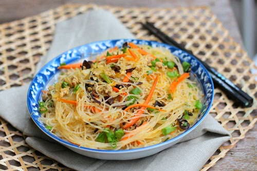 Fried Cassava Vermicelli with Grinded Pork Recipe