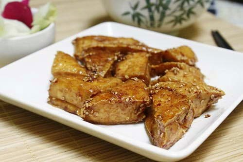 Fried Tofu with Sweet and Sour Sauce Recipe