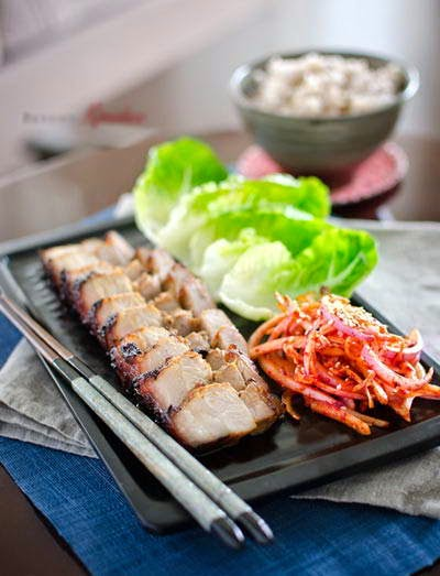 Grilled Pork Belly in Korean Style