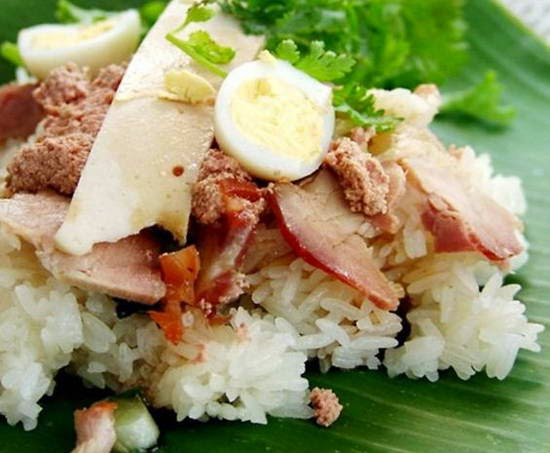 Mixture Salty Steamed Sticky Rice
