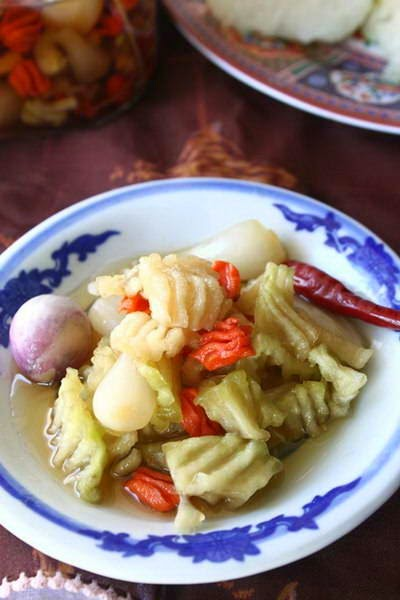 Pickled Vegetables and Chinese Scallion in Fish Sauce Recipe