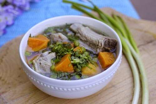 Pork Chop Soup with Sweet Potato Recipe