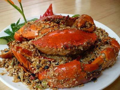 Roasted Crab with Salt and Satay