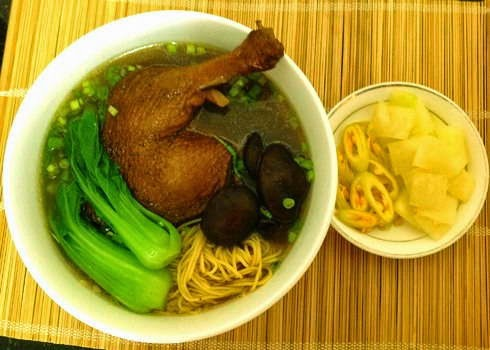 Roasted Duck with Egg Noodle Soup Recipe
