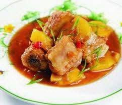 Vietnamese Braised Chop Pork with Pineapple