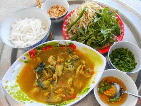 Vietnamese Quảng Noodles with Frog Meat Recipe